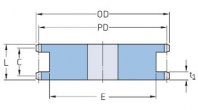 ISO 06B-1 - 9,525 мм