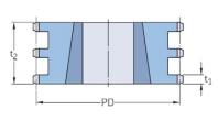 ISO 12B-3 - 19,05 мм