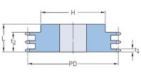 ISO 06B-3 - 9,525 мм