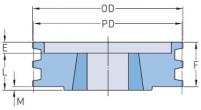 3V с коническим отверстием